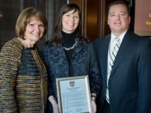 Burke Honored as Champion for Higher Education
