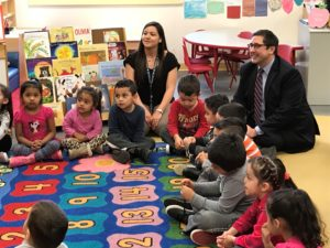 Yingling Meets with Round Lake Early Education Center Teachers and Students