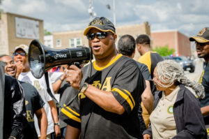 Welch, Alpha Phi Alpha Fraternity Members March Against Violence in Maywood