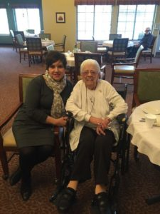 Manley Visits with Rock Run Place Residents and Staff