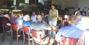 Chapa LaVia and Residents Sit Down for Coffee; Discuss State and Local Concerns