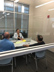 Chapa LaVia Meets with Residents at Local Library