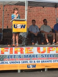 Stuart Joins Steelworkers to Rally for Jobs, Promote Buy Illinois Initiatives