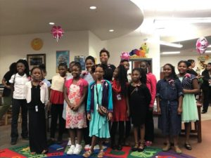 Greenwood Visits Local School To Meet With Young Girls