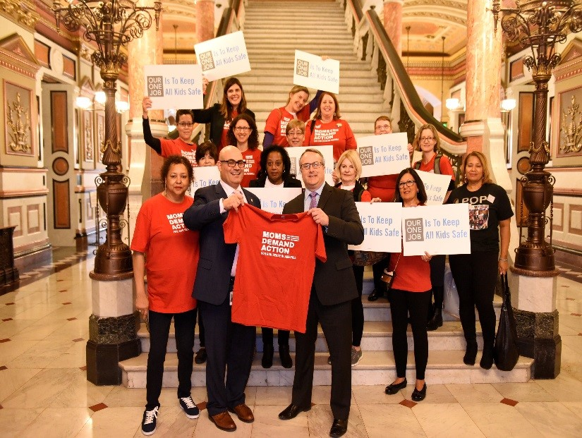Connor Meets with Gun Safety Activists at Capitol