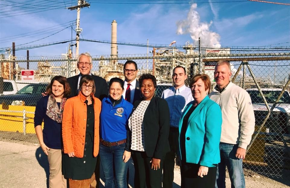 Stuart, Comptroller Visit Wood River Oil Refinery