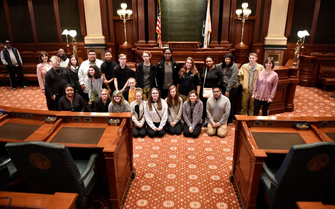 Scherer Joins Eisenhower Students for day at the Capitol