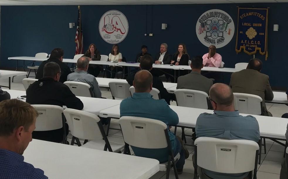 Bristow, Metro East Legislators Meet with Community Labor Leaders