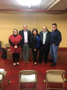 Pictured: State Rep. Ramirez (third from left), Rep. Martwick (second from left), and 35th Ward Alderman Ramirez-Rosa (fourth from right)