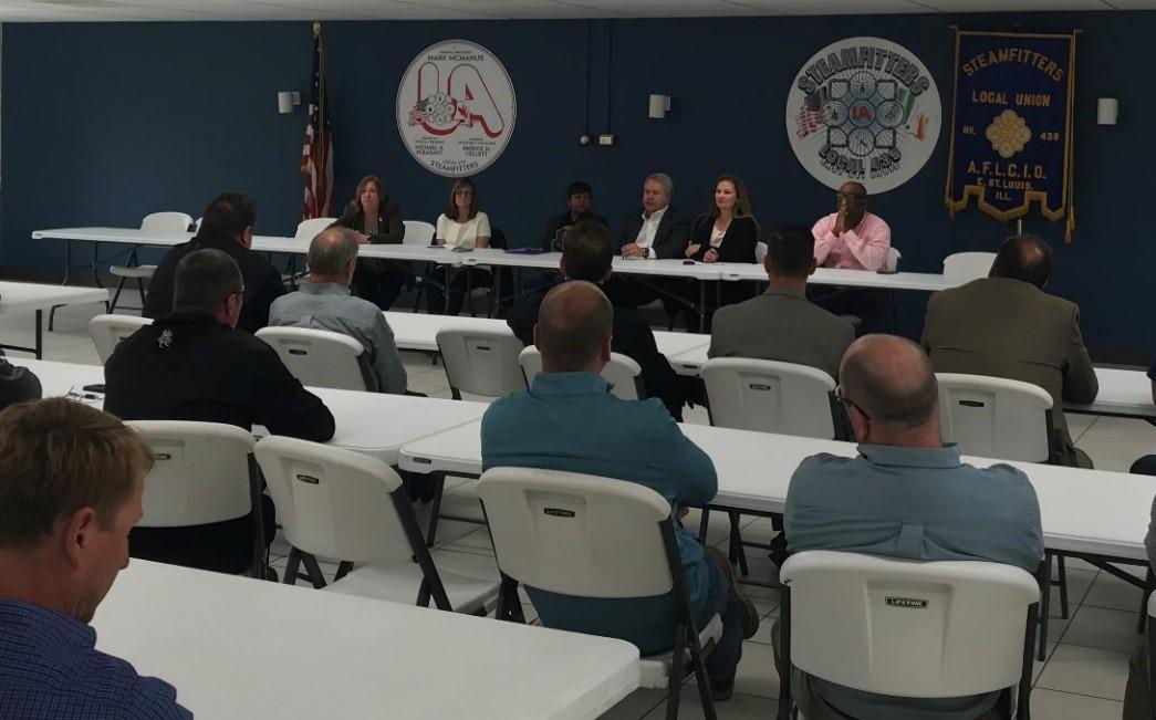 Stuart, Metro East Legislators Host  Local Labor Roundtable
