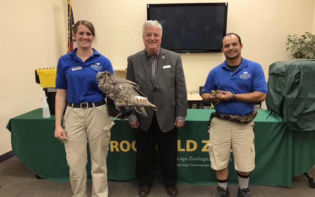 State Rep. Walker Hosts Animal Ambassadors at Local Senior Center