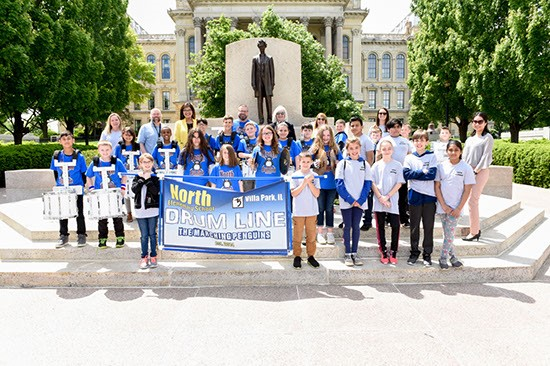 Conroy Invites Villa Park's North Elementary School Drumline to Capitol