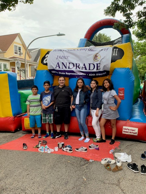 Andrade Attends Cleveland Elementary Fall Fest
