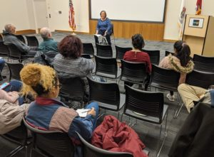 PICTURED: Rep. Mason speaks to attendees at her Legislative Forum at the Warren-Newport Public Library in Gurnee on Wednesday.