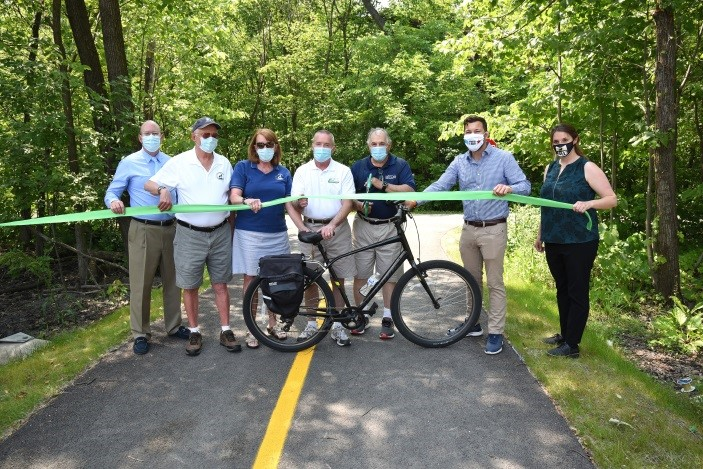 Moylan Celebrates Opening of Bicycle/Pedestrian Connections to Busse Woods